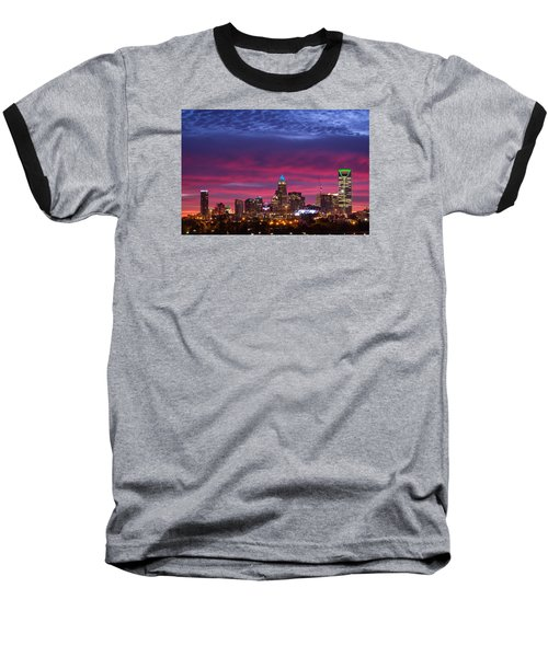 Amazing Colors Of Charlotte Baseball T-Shirt by Serge Skiba