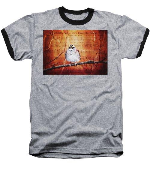 Amazing Grace Baseball T-Shirt by Trina Ansel