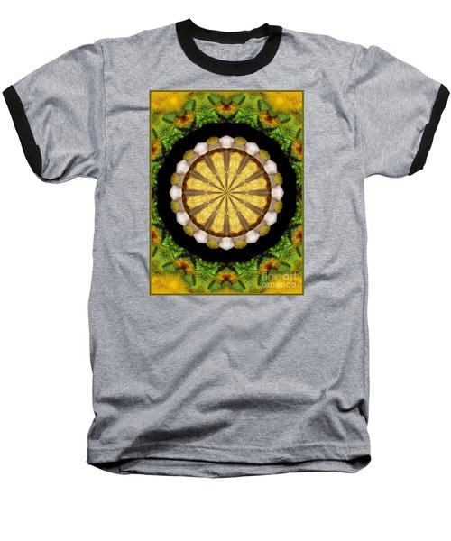 Amazon Kaleidoscope Baseball T-Shirt by Debbie Stahre