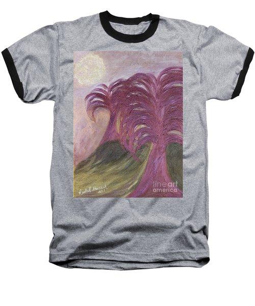Ambient Moonlight Baseball T-Shirt by Rachel Hannah