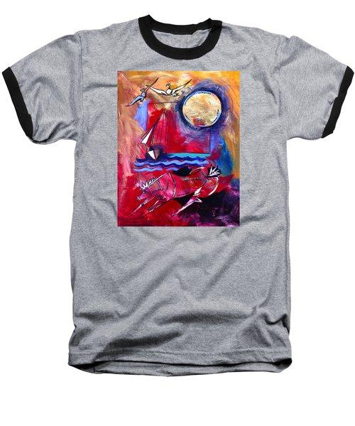 Ameeba 34-horse And Sailboat Baseball T-Shirt