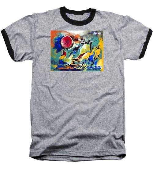 Ameeba 35-horses By The Sea Baseball T-Shirt