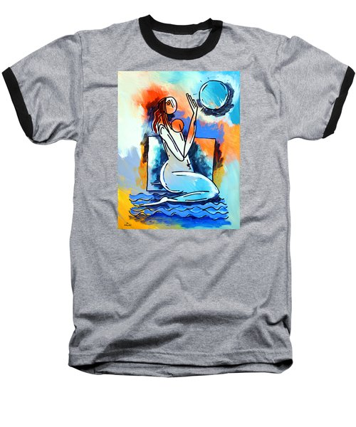 Ameeba- Nude Woman On Beach 5 Baseball T-Shirt