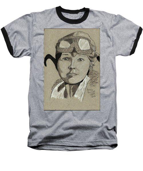 Amelia Earhart Baseball T-Shirt