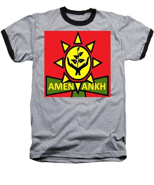 Amen Ankh Sunset Baseball T-Shirt