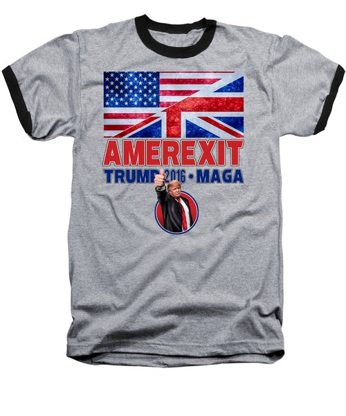 Baseball T-Shirt featuring the digital art Amerexit by Don Olea