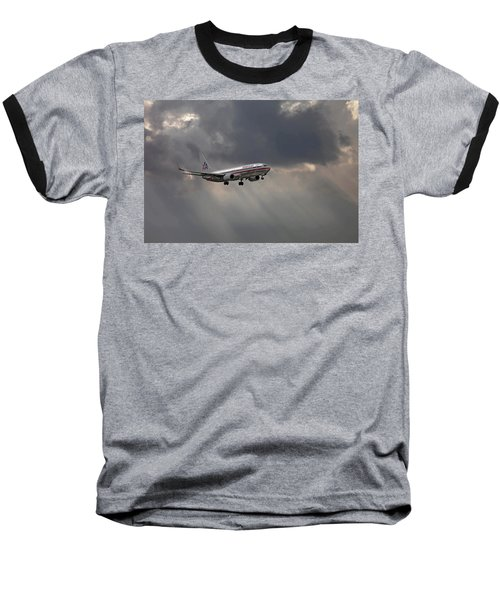 American Aircraft Landing After The Rain. Miami. Fl. Usa Baseball T-Shirt