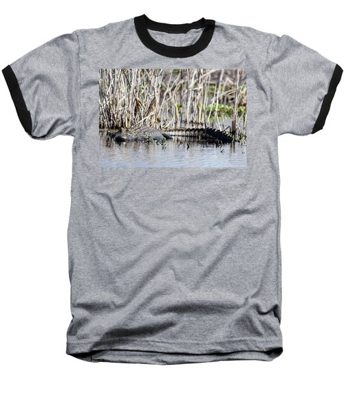 Baseball T-Shirt featuring the photograph American Alligator by Gary Wightman