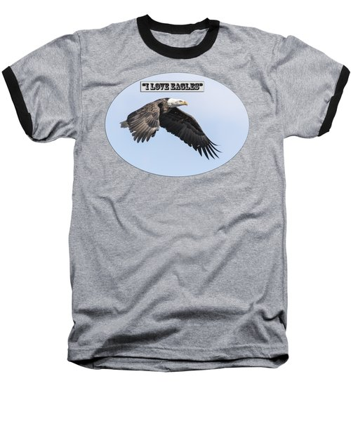 American Bald Eagle 2015-25 Isolated Baseball T-Shirt by Thomas Young