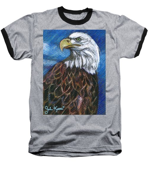 American Bald Eagle Baseball T-Shirt by John Keaton