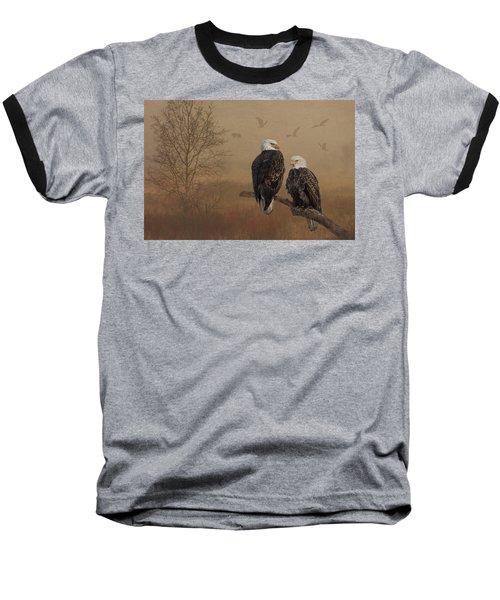 American Bald Eagle Family Baseball T-Shirt