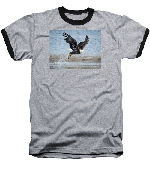 American Bald Eagle Taking Off Baseball T-Shirt by Ricky L Jones