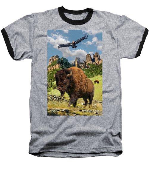 American Bison Baseball T-Shirt