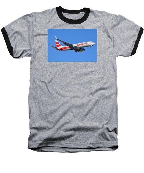American Boeing 737-823 N915nn Phoenix Sky Harbor January 11 2015 Baseball T-Shirt by Brian Lockett