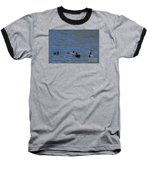 Baseball T-Shirt featuring the photograph American Coots 20120405_216a by Tina Hopkins