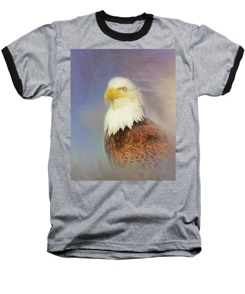 Baseball T-Shirt featuring the painting American Eagle by Steven Richardson