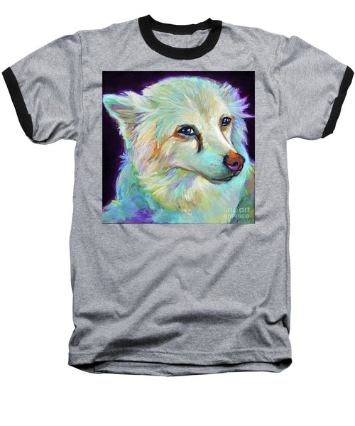 Baseball T-Shirt featuring the painting American Eskimo by Robert Phelps
