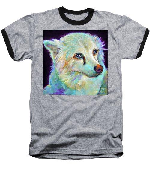 American Eskimo Baseball T-Shirt by Robert Phelps