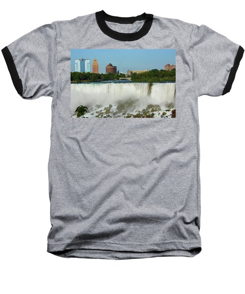 American Falls With Bridal Veil Baseball T-Shirt