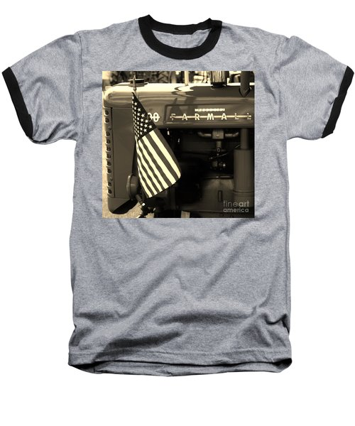 Baseball T-Shirt featuring the photograph American Farmall by Meagan  Visser