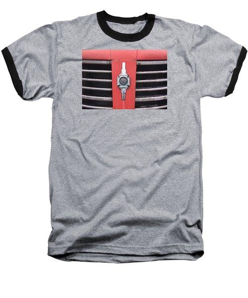 Baseball T-Shirt featuring the photograph American Foamite Firetruck Emblem by Susan Crossman Buscho