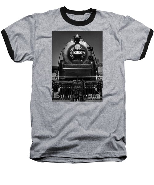 Baseball T-Shirt featuring the photograph American Freedom Train #1 by Martin Konopacki