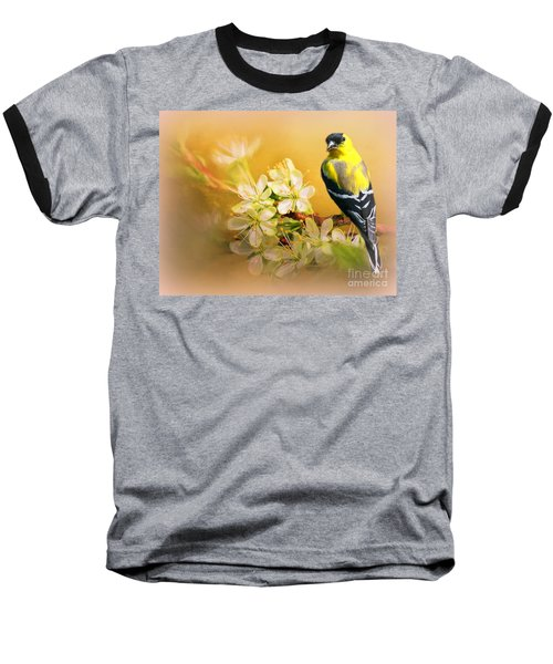 American Goldfinch In The Flowers Baseball T-Shirt