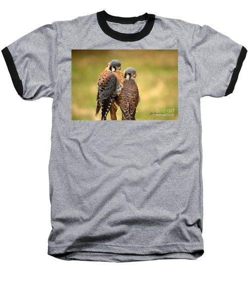American Kestrel Siblings Baseball T-Shirt