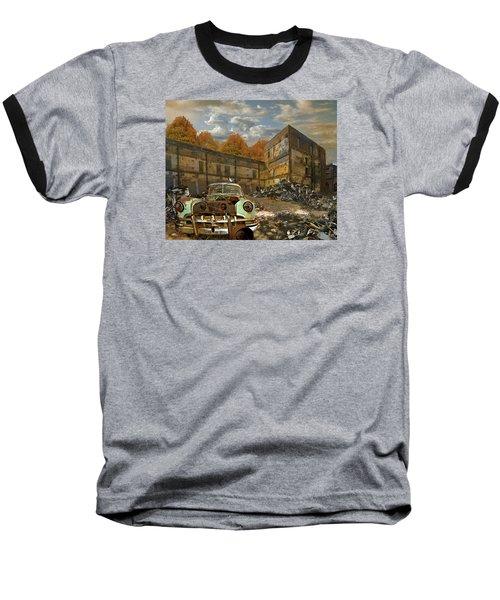 American Landscape Circa 2012 Baseball T-Shirt by Jeff Burgess