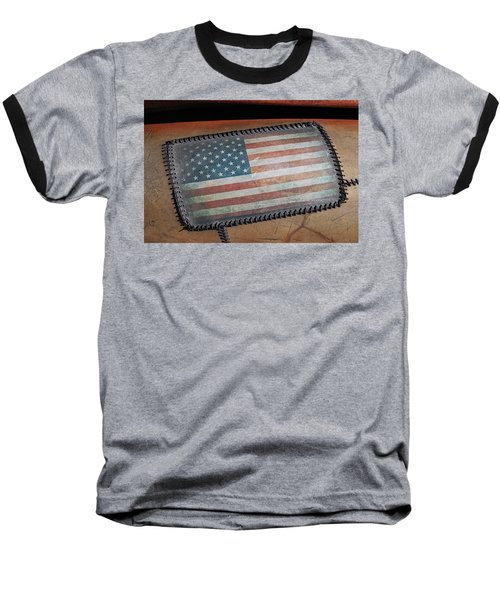 Baseball T-Shirt featuring the photograph American Leather by Christopher McKenzie
