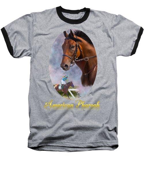 American Pharoah Framed Baseball T-Shirt