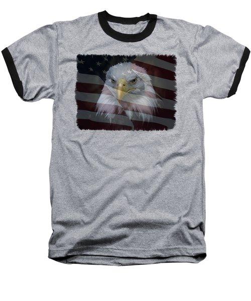 American Pride 2 Baseball T-Shirt