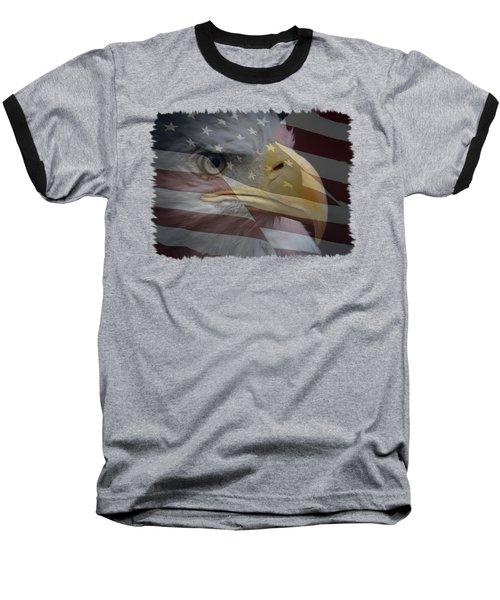 American Pride 3 Baseball T-Shirt