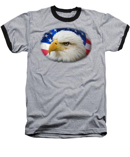 American Pride Baseball T-Shirt by Shane Bechler