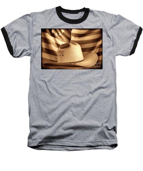 American Rodeo Cowboy Hat Baseball T-Shirt