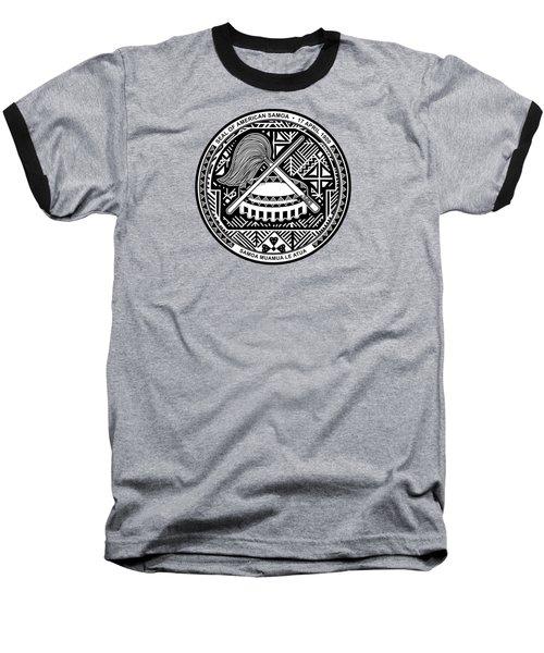 American Samoa Seal Baseball T-Shirt
