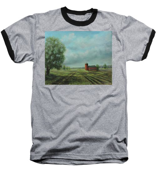 American Scene Red Barn  Baseball T-Shirt