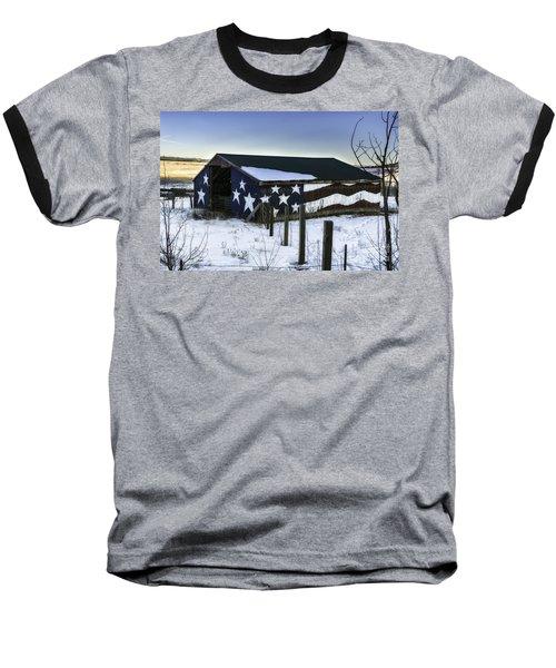 American Snow  Baseball T-Shirt