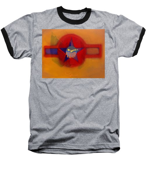 Baseball T-Shirt featuring the painting American Sub Decal by Charles Stuart