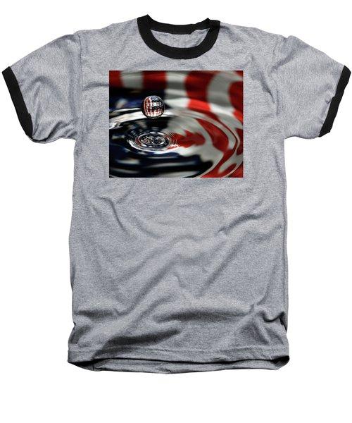 American Water Drop Baseball T-Shirt by Betty Denise