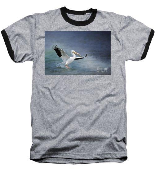 American White Pelican  Baseball T-Shirt by Bonnie Barry