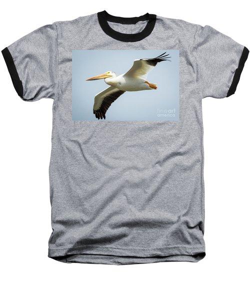 American White Pelican Flyby  Baseball T-Shirt