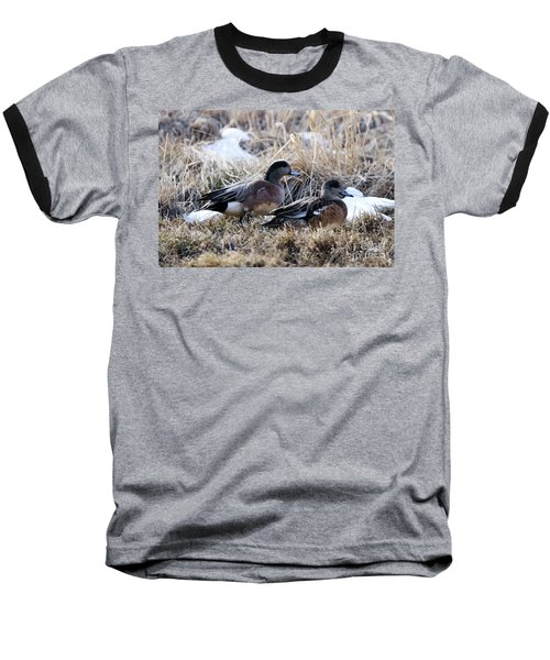 American Wigeon Mated Pair Baseball T-Shirt