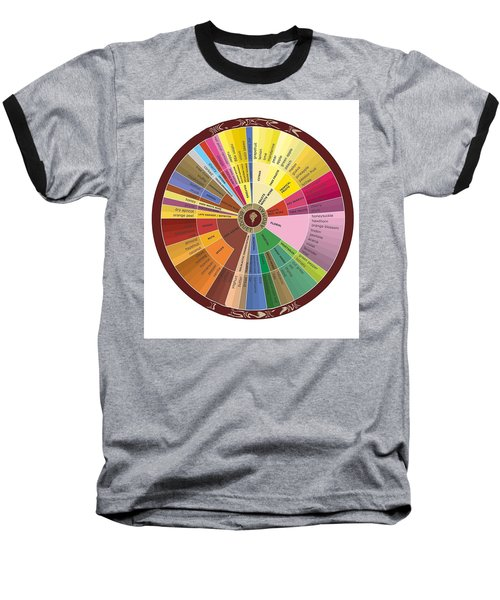 American Wine Chart Baseball T-Shirt