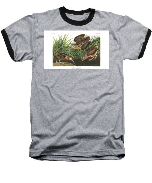 American Woodcock Baseball T-Shirt by MotionAge Designs