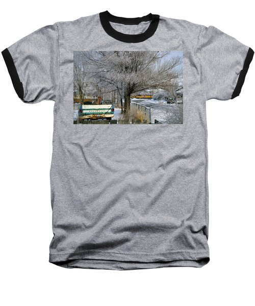 Americana And Hoarfrost Baseball T-Shirt by Eric Nielsen