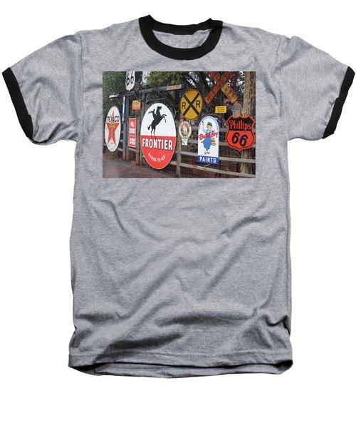 Baseball T-Shirt featuring the photograph Americana Rt.66 by Elvira Butler