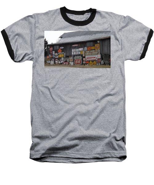 Americana Signs Baseball T-Shirt by Don Koester