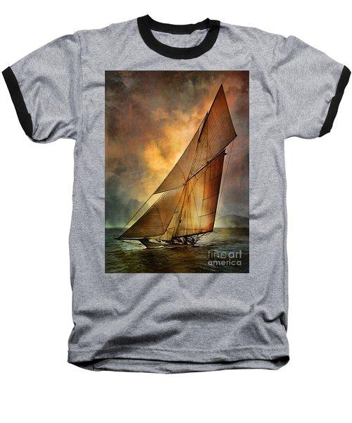 Baseball T-Shirt featuring the digital art America's Cup 1 by Andrzej Szczerski