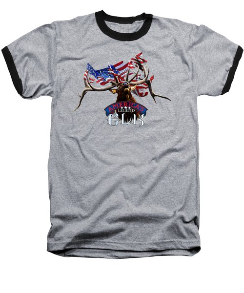 America's Legend Elk Baseball T-Shirt by Rob Corsetti
